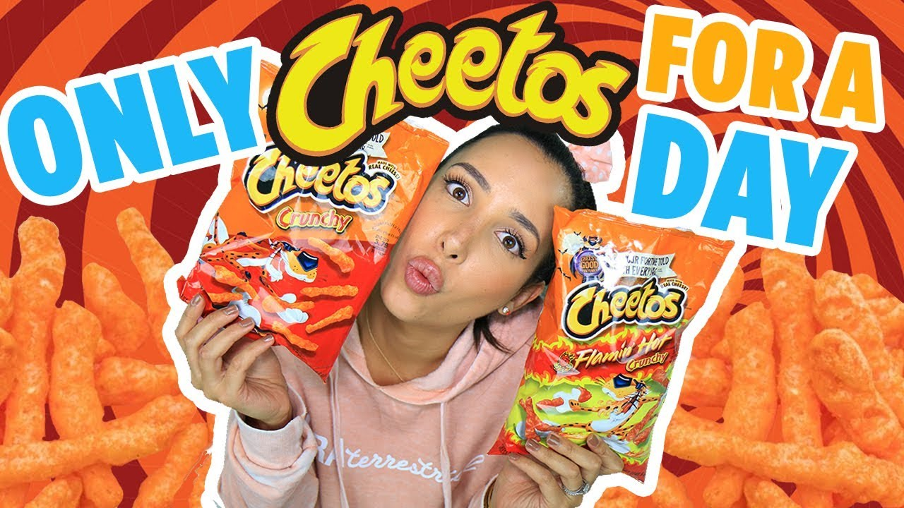 24 HOURS EATING HOT CHEETOS CHALLENGE 🔥I EAT ONLY HOT CHEETOS FOR A DAY   Mar